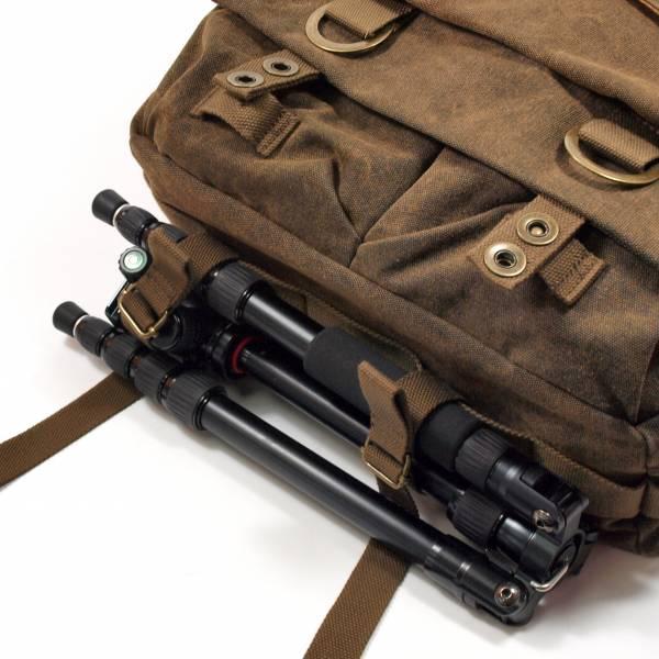 Gleann Bag Kameratasche von Firmcam mit K9 Reisestativ von Kingjoy bei AudiNova