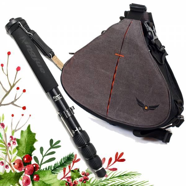 Weihnachts-Set:  Gleann Bag Fototasche mit Monopod