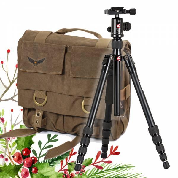 Weihnachts-Set:  Gleann Bag Fototasche mit Stativ