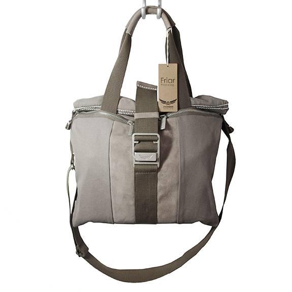 FRIAR Fototasche Kamerabag für Damen in Stone-Grey. 2-in-1: Shopper und Kameratasche
