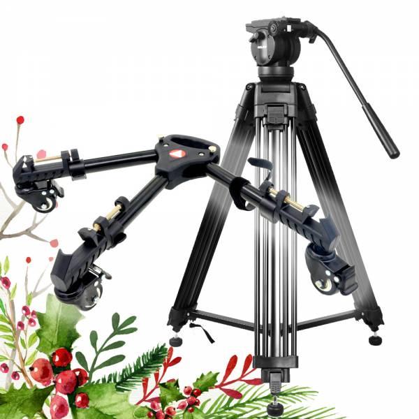 Weihnachts-Set Videostativ mit Stativwagen Stativdolly