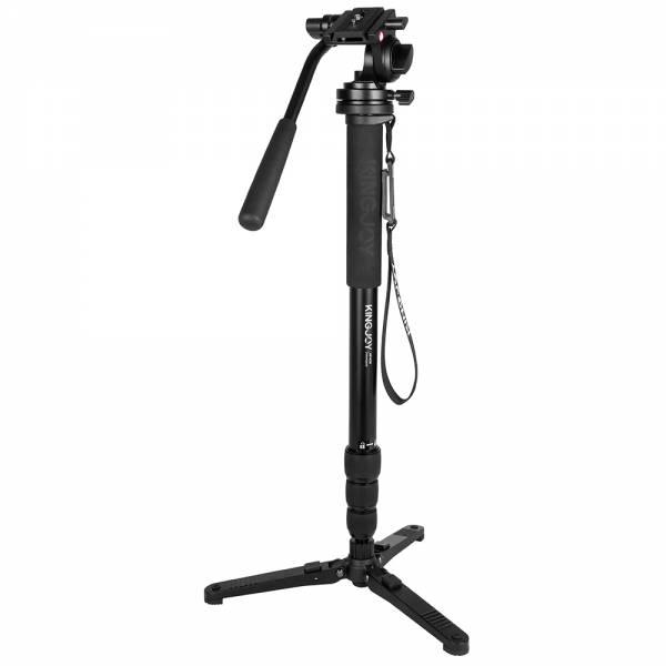Profi Monopod Kit MP4008 Einbein und KH6750 Videoneiger incl. Standspinne