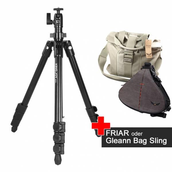 Foto-Reise-Stativ SF48 im Spar-Set mit Friar oder Gleann Bag Sling Foto-Tasche